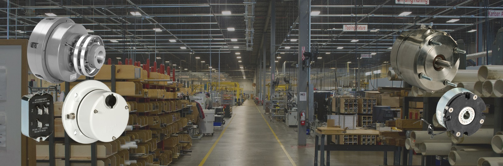 stearns brakes manufacturing facility with product snapshots